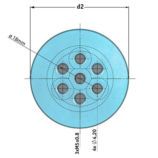 Picotronic Halterung MULTI-MOUNT-20(45x75)